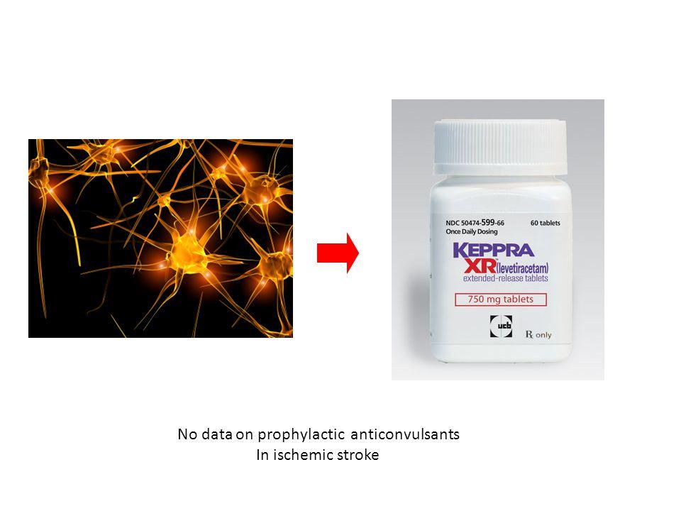 No data on prophylactic anticonvulsants In ischemic stroke