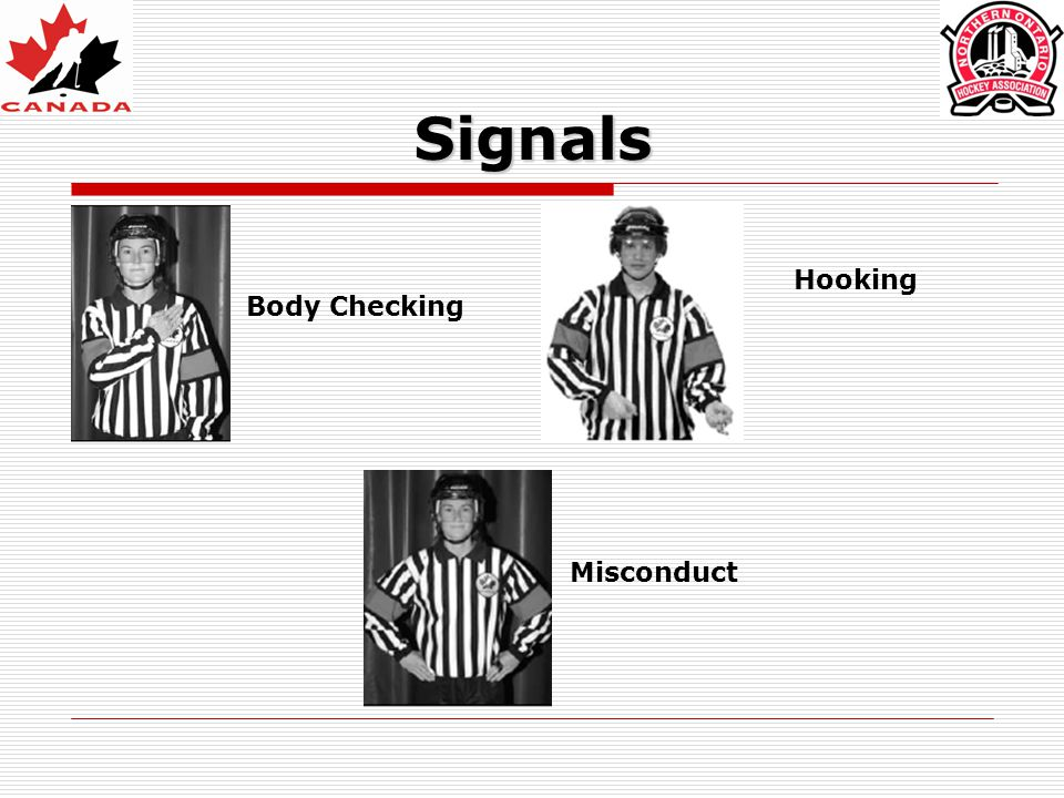 Signals Body Checking Hooking Misconduct