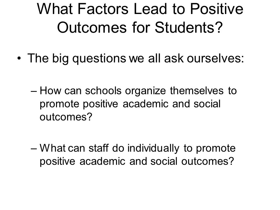 Level the playing field (7%) Overarching idea is that teachers should treat students equitably Concern over preferential & differential treatment: –Treat everyone the same –Don't pick favorites –Pay attention to each student –Don't judge students on past mistakes, how they look or what you've heard
