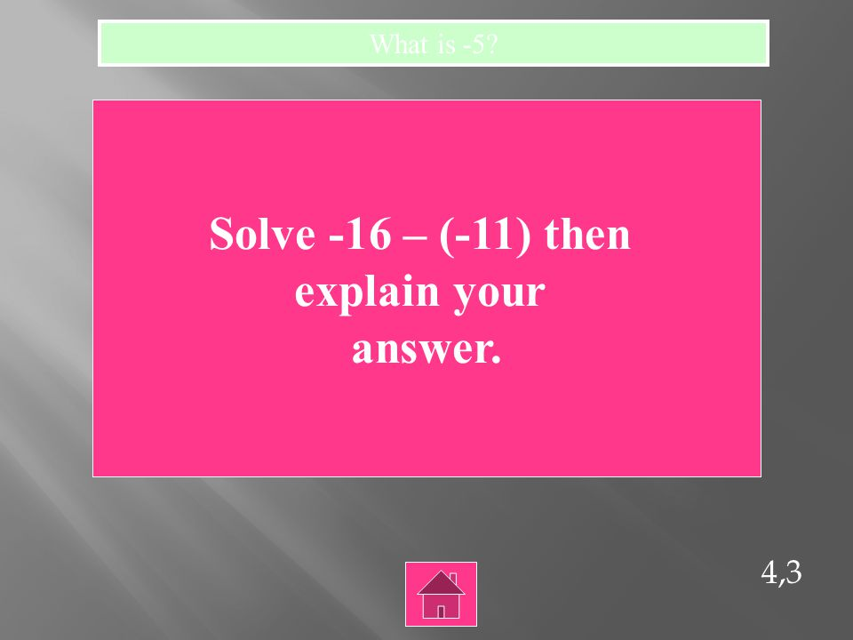 4,2 Solve the following: l-8l + l 15 l = What is 23?
