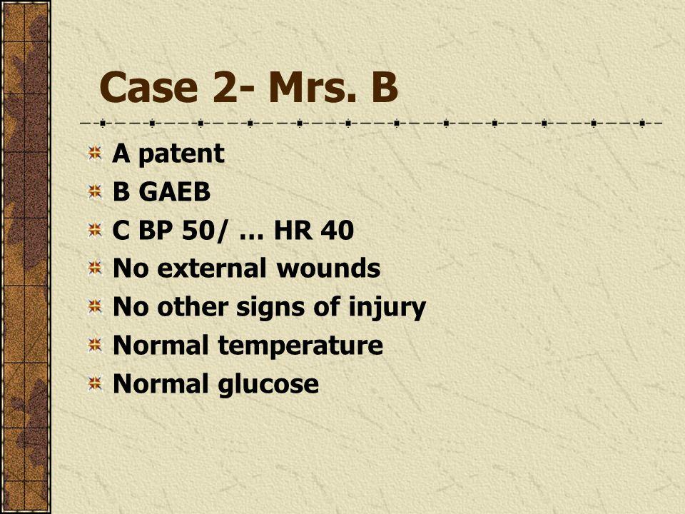 Case 2- Mrs.