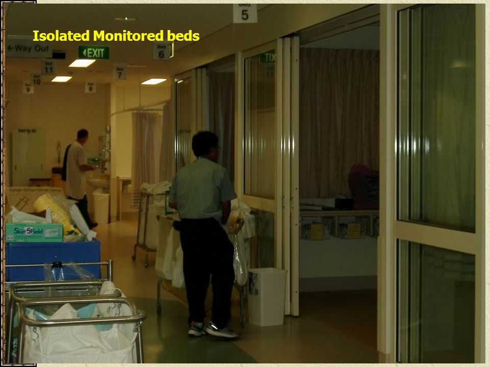 Isolated Monitored beds
