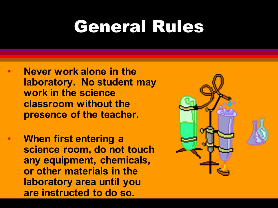 Chemical Safety All chemicals in the laboratory are to be considered dangerous.