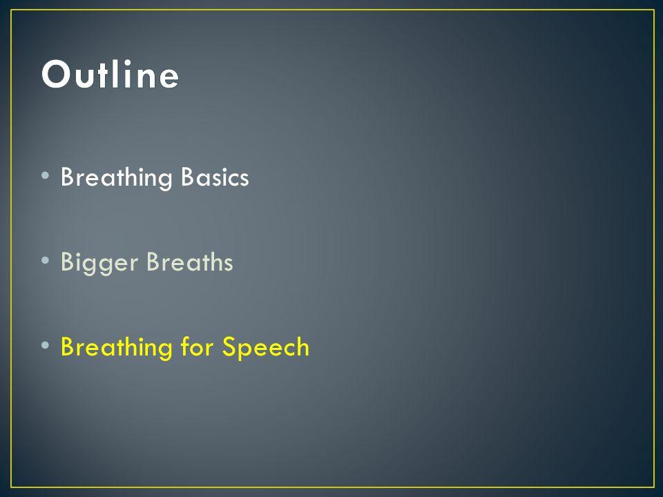 Breathing Basics Bigger Breaths Breathing for Speech