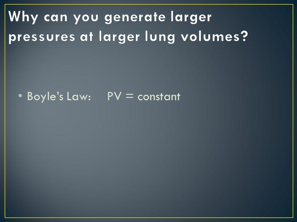 Boyle's Law: PV = constant