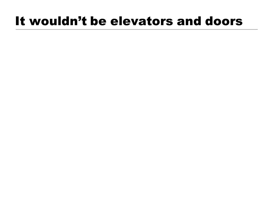 It wouldn't be elevators and doors © 2001 Steve Krug