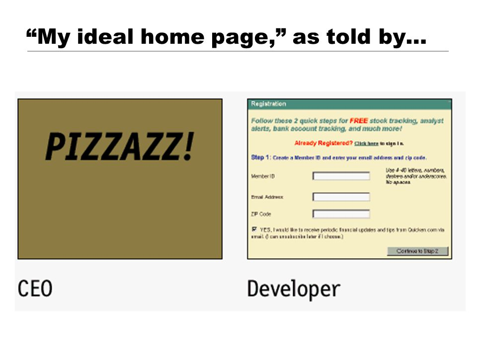 My ideal home page, as told by…