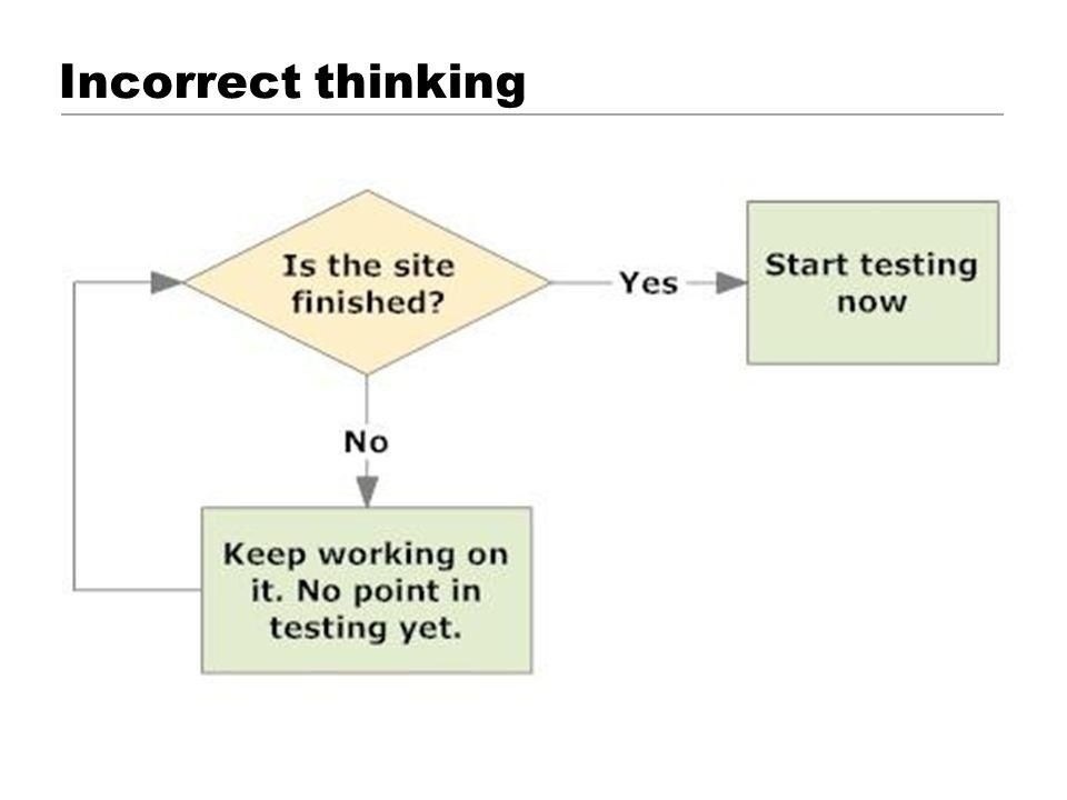 Incorrect thinking © 2001 Steve Krug