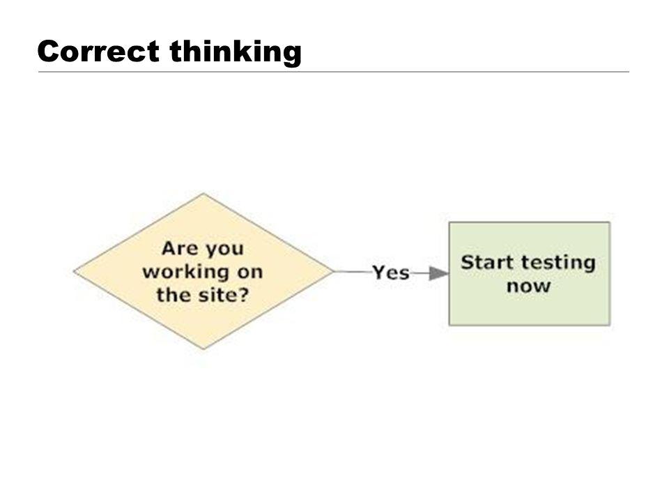 Correct thinking © 2001 Steve Krug