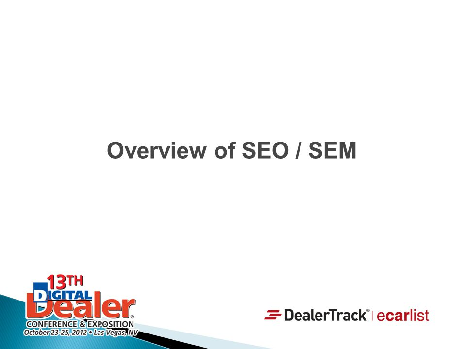 Overview of SEO / SEM