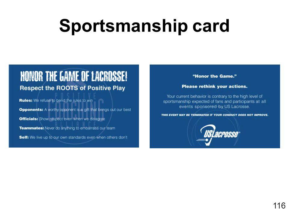 116 Sportsmanship card
