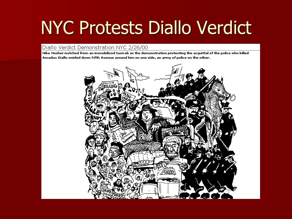 NYC Protests Diallo Verdict