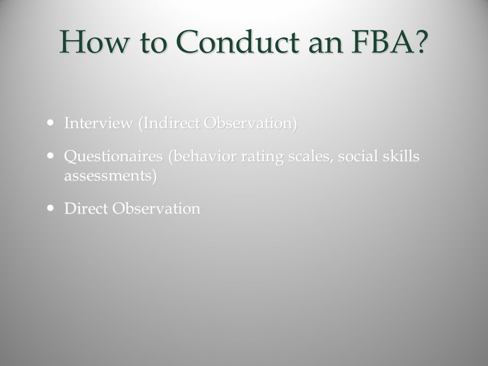 How to Conduct an FBA.