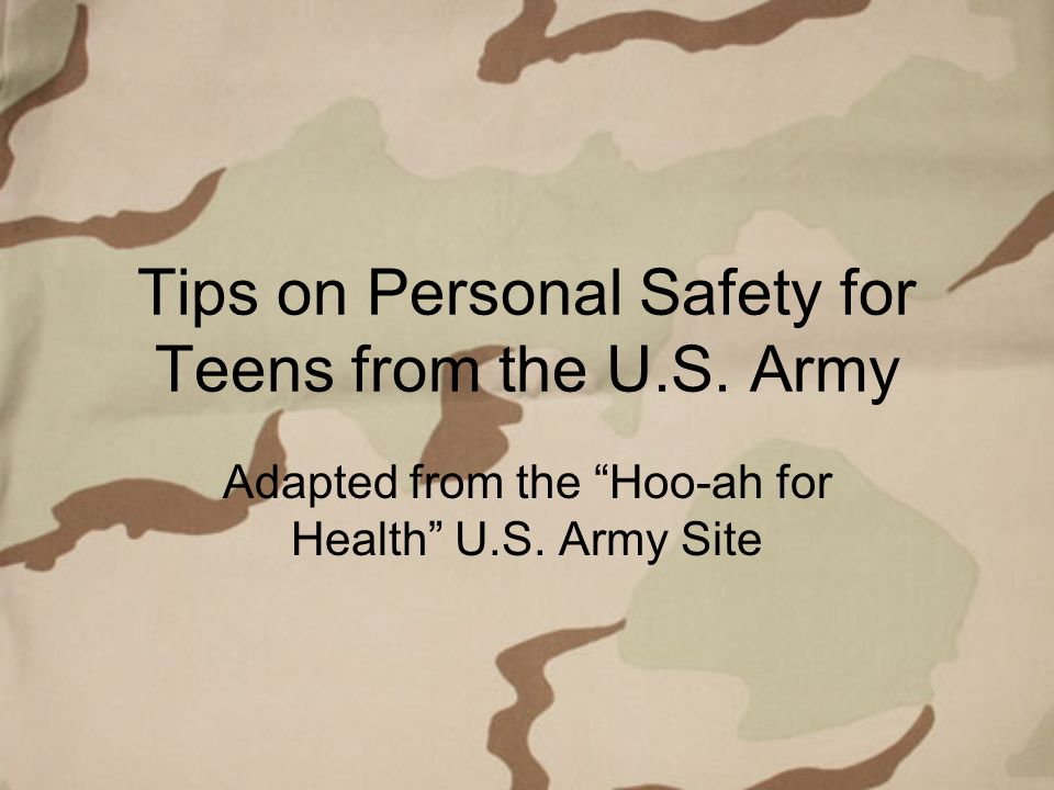 Stay Safe with Personal Safety Skills Teens are the victims of property and personal crimes more than any other group.