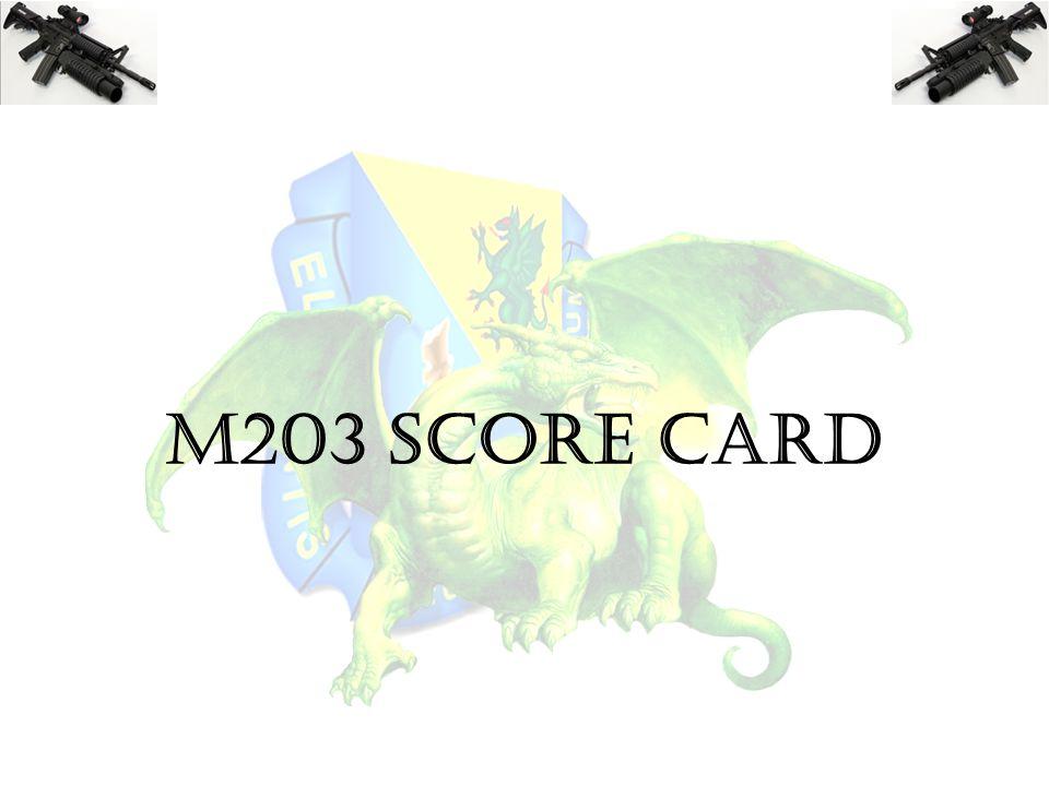 M203 SCORE CARD