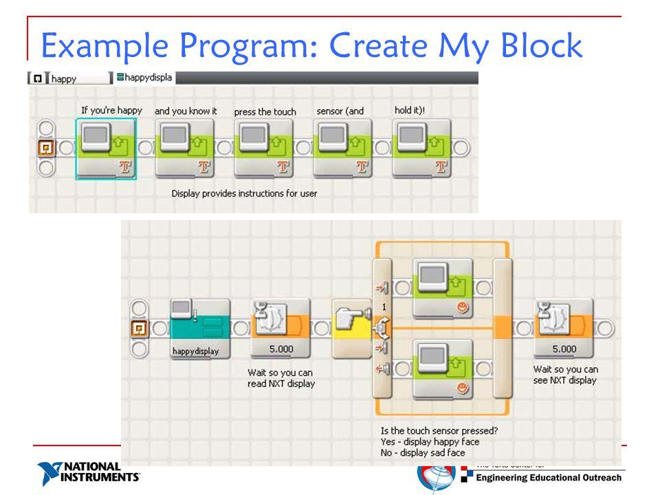 Example Program: Create My Block