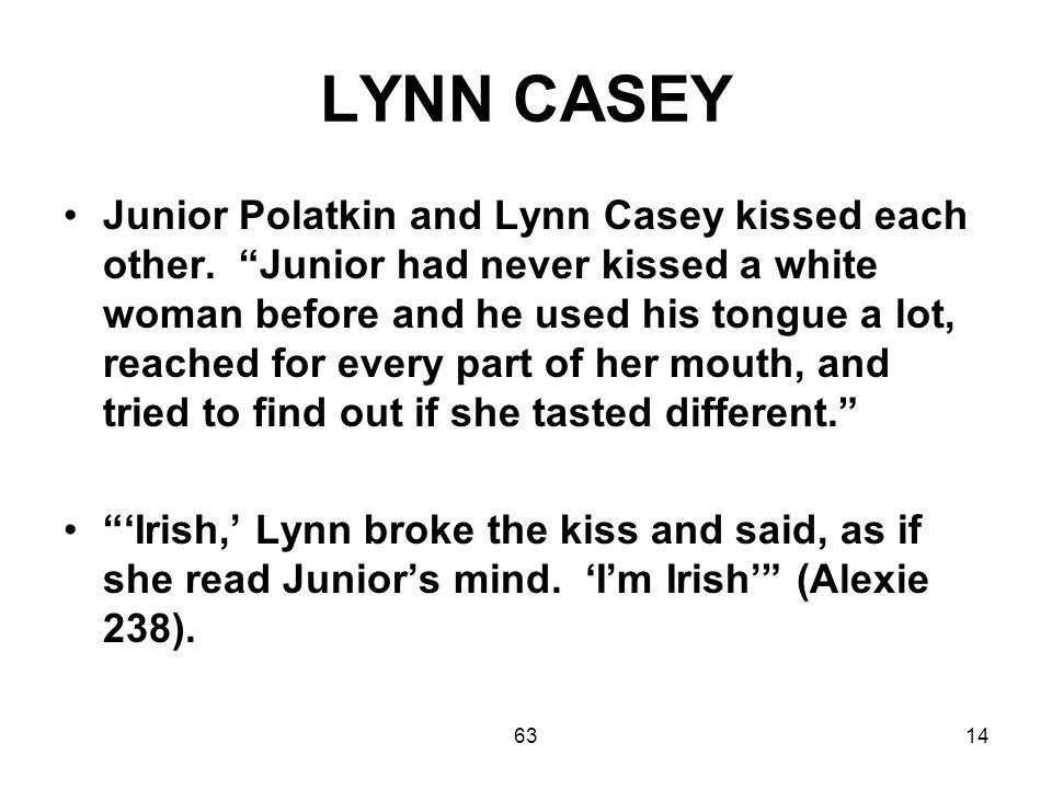 6314 LYNN CASEY Junior Polatkin and Lynn Casey kissed each other.