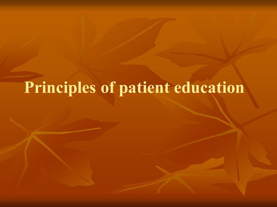 Principles of patient education