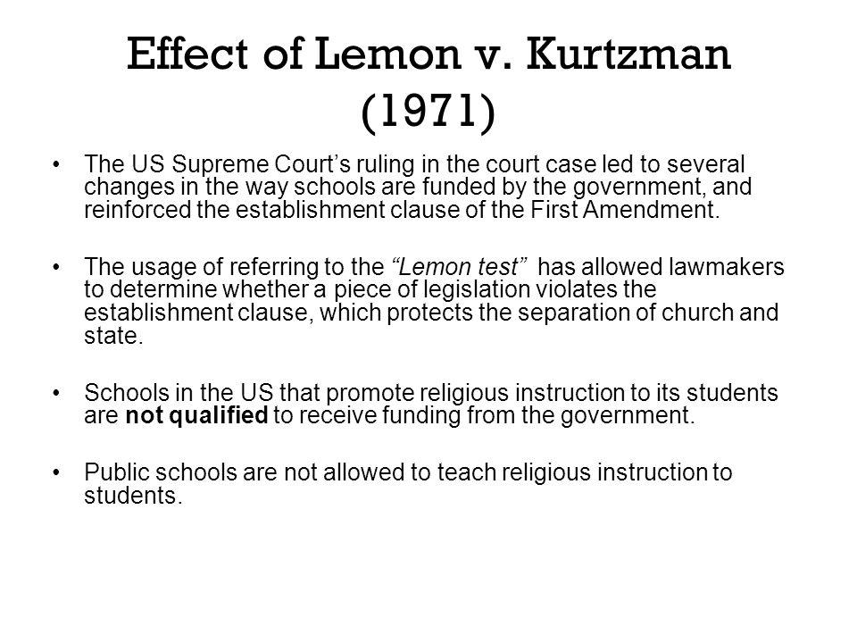 Effect of Lemon v.