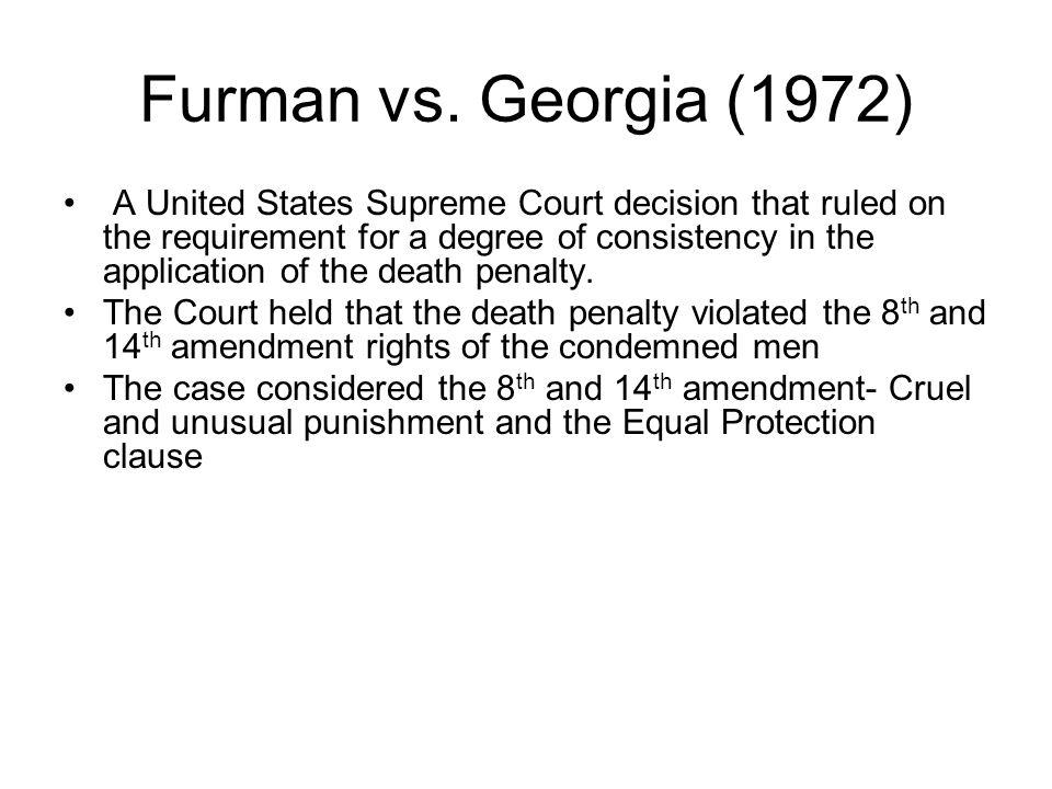 Furman vs.