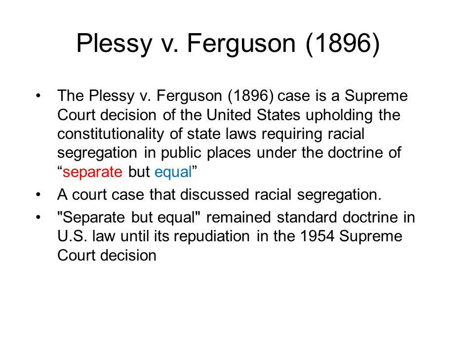 The Plessy v.