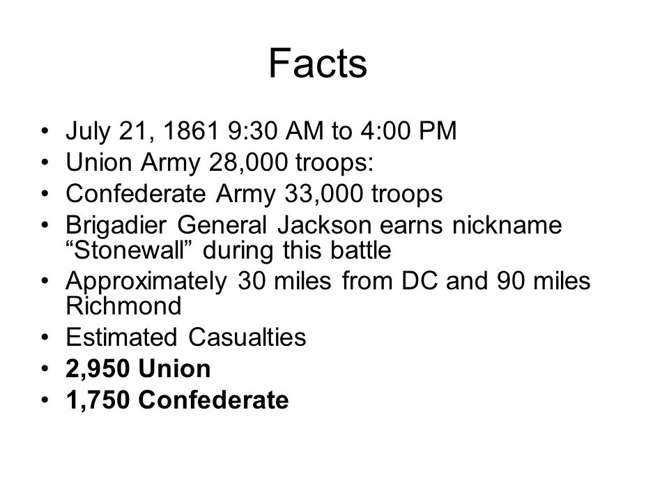 9:30 to 4:00 PM Jackson continued to press his attacks, telling soldiers of the 4th Virginia Infantry, Reserve your fire until they come within 50 yards.