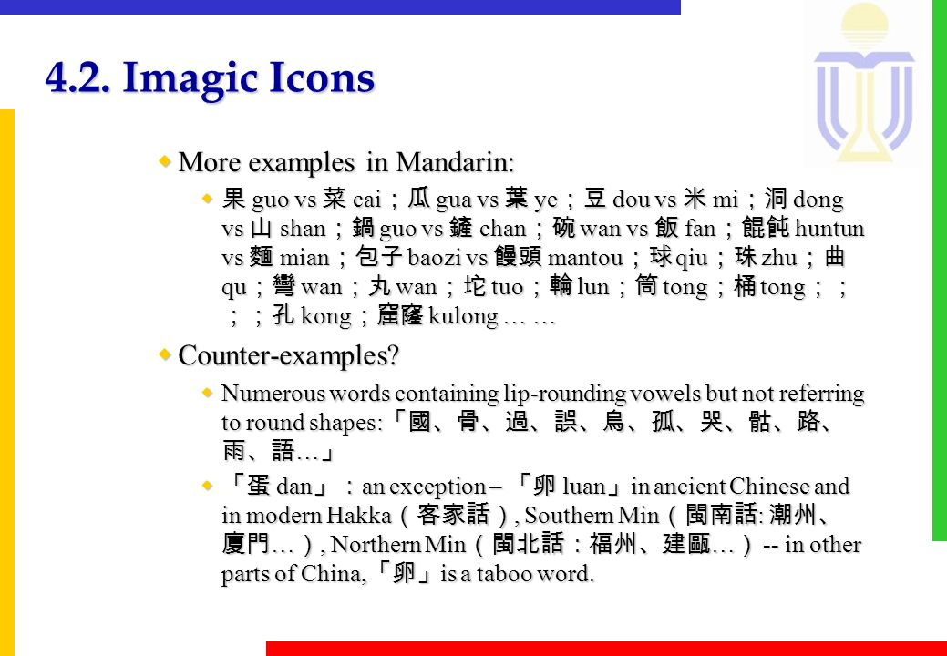 4.2.Imagic Icons wExample 2: 'i' for quite sounds; 'a' for loud sounds in Mandarin.