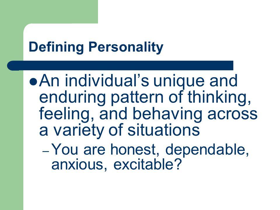 What factors determine an individuals unique personality?