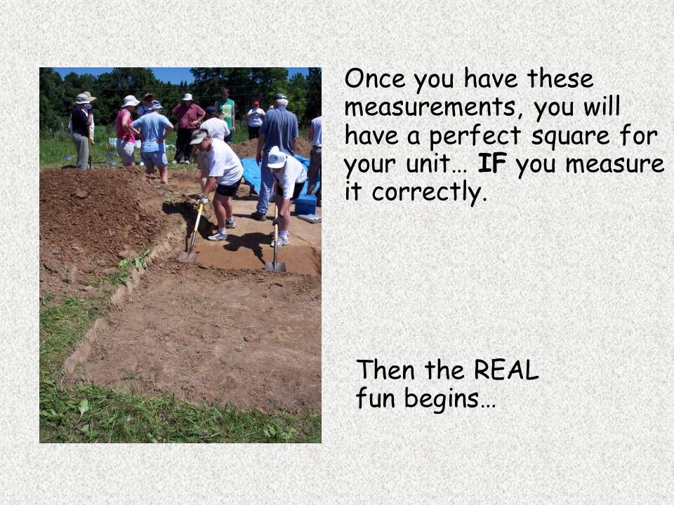 Once you have these measurements, you will have a perfect square for your unit… IF you measure it correctly. Then the REAL fun begins…