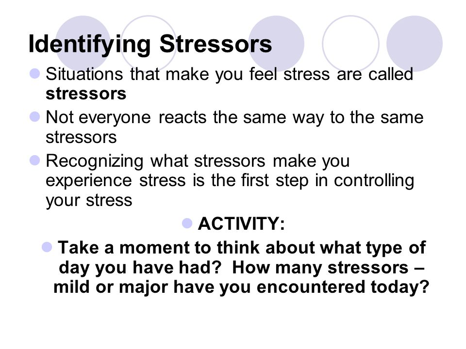 WHAT IS STRESS? lStress is your mind and body's response or reaction to a real or imagined threat, event or change. lThe threat, event or change are c