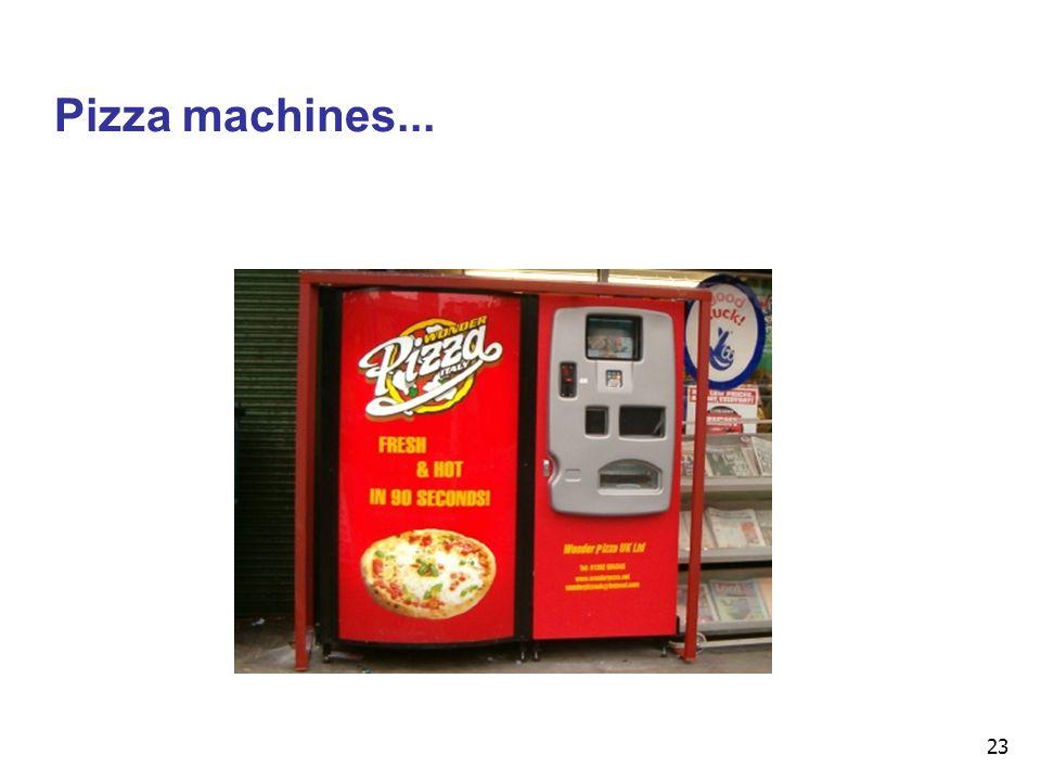 23 Pizza machines...