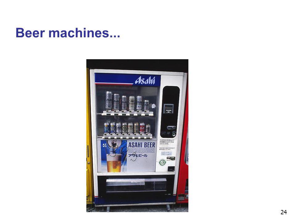 24 Beer machines...