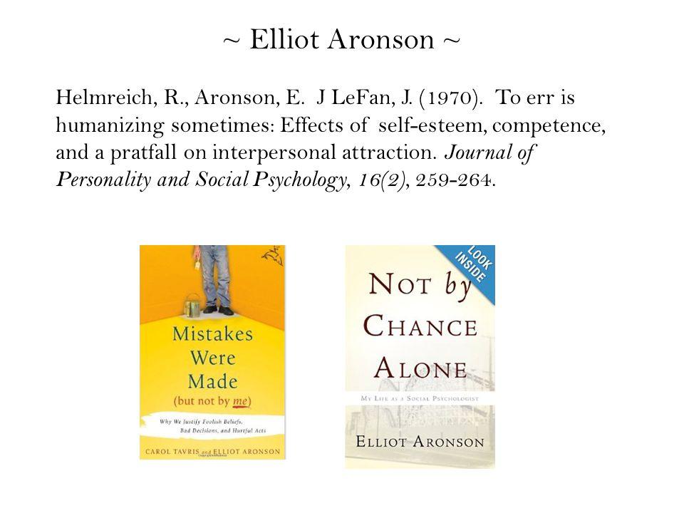 Helmreich, R., Aronson, E. J LeFan, J. (1970).