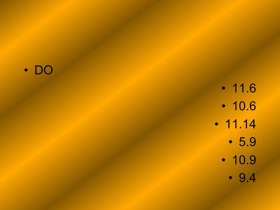 DO 11.6 10.6 11.14 5.9 10.9 9.4
