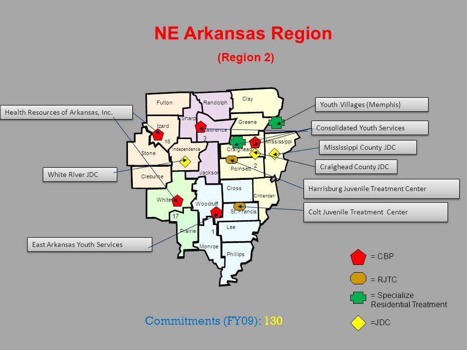 Mississippi NE Arkansas Region (Region 2) Craighead Greene Crittenden Cross Poinsett Monroe St. Francis Lee Clay Woodruff Phillips Prairie White Stone