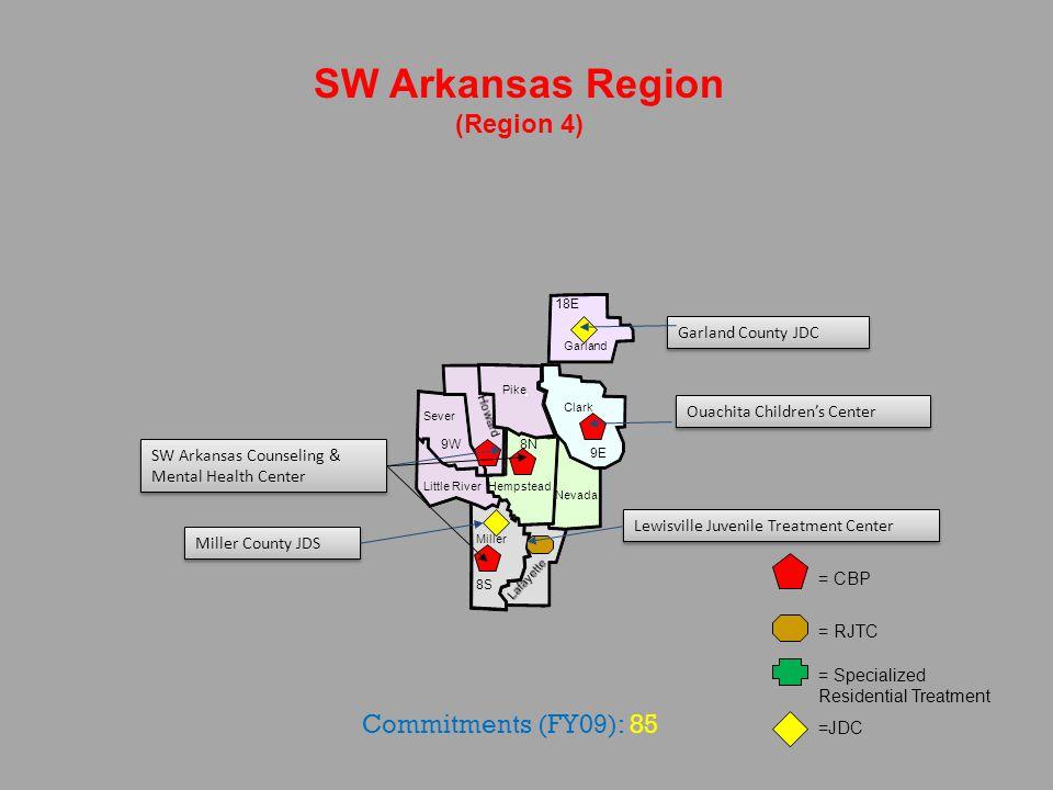 Saline Pulaski Perry Lonoke Hot Springs Central Arkansas Region (Region 5) Grant = CBP = RJTC = Specialized Residential Treatment = JDC 6 23 7 22 Professional Counseling Associates Pulaski County JDC Counseling Clinic, Inc.