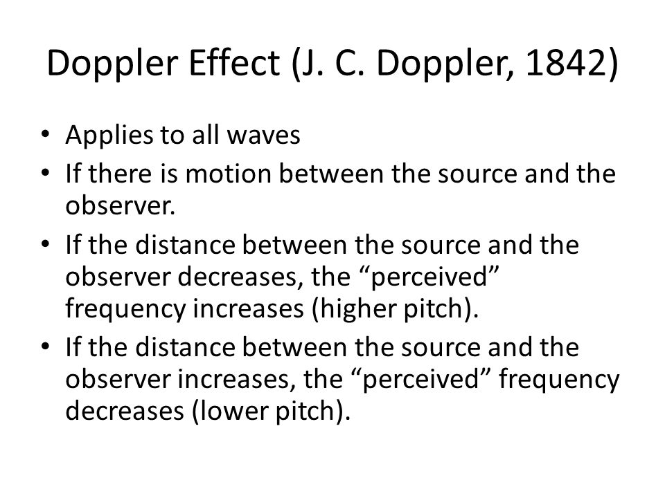 Doppler Effect (J. C.