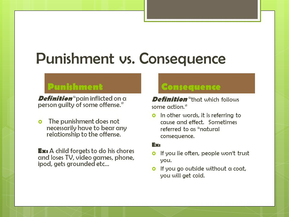 Punishment vs.