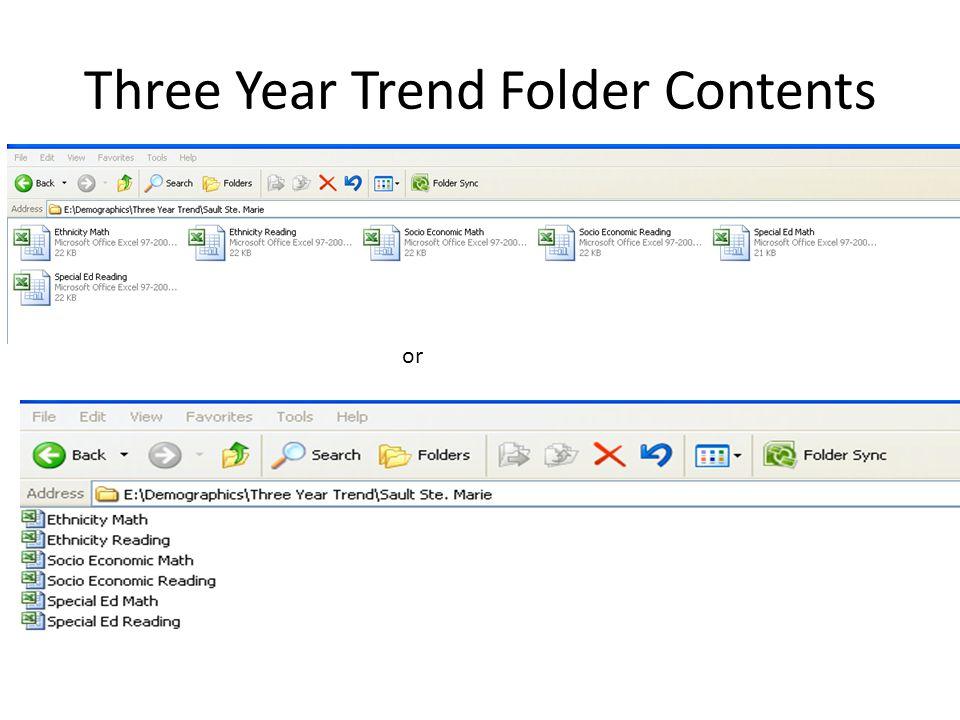 Demographics Folder Content
