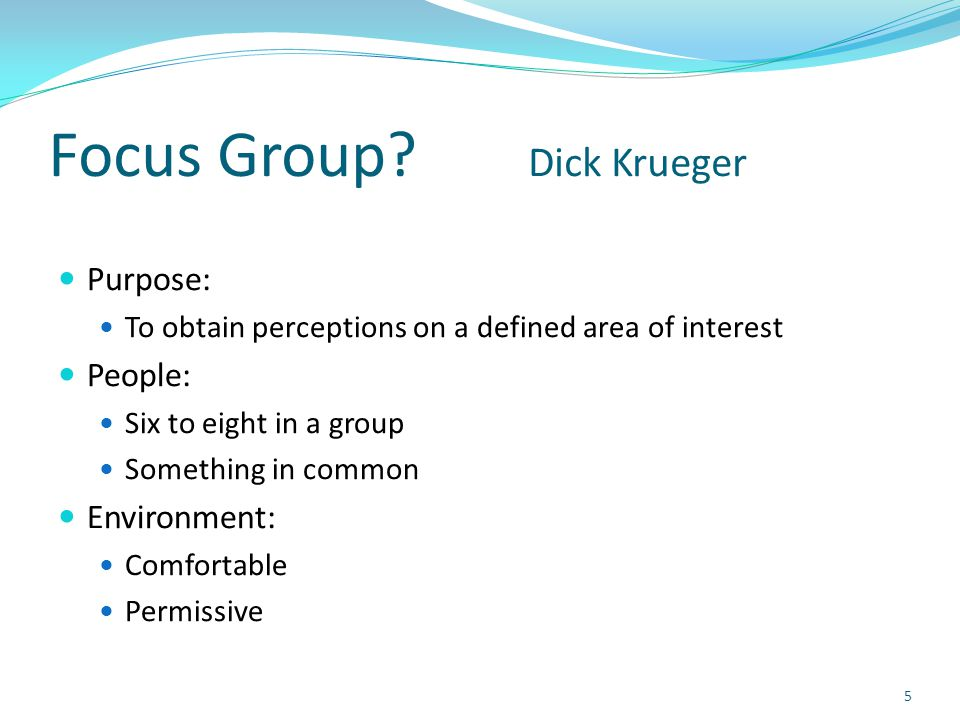 Focus Group.