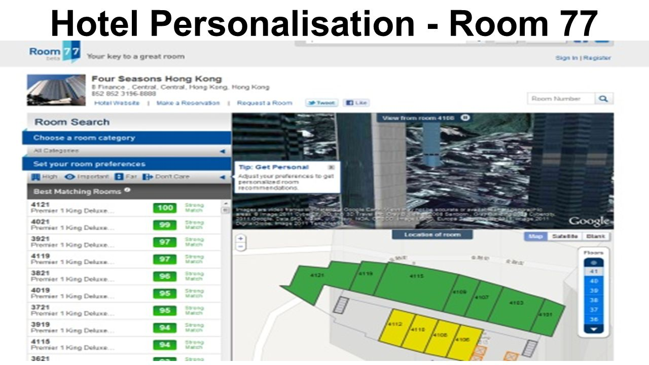Hotel Personalisation - Room 77