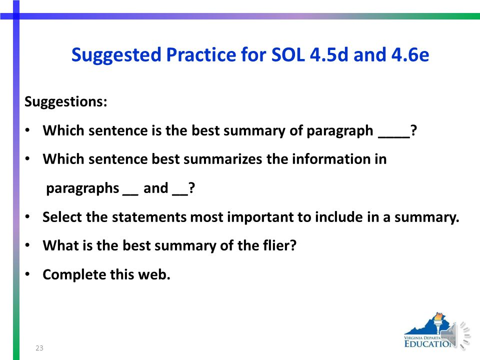 Suggested Practice for SOL 4.6e Important Details to Consider Before Adopting a Pet _________________________ Which Pet is For You.