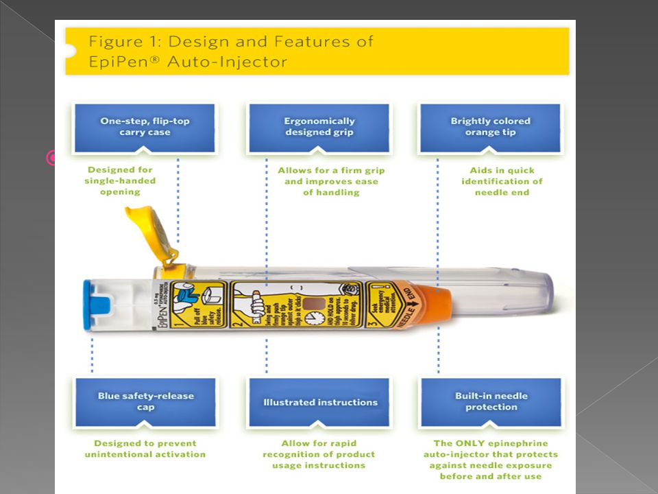  EpiPens are easy to use.  Remember, you must hold the EpiPen in place for 10 seconds.