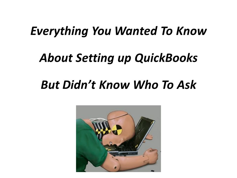 Setup QuickBooks - Step 20 Chart Of Accounts