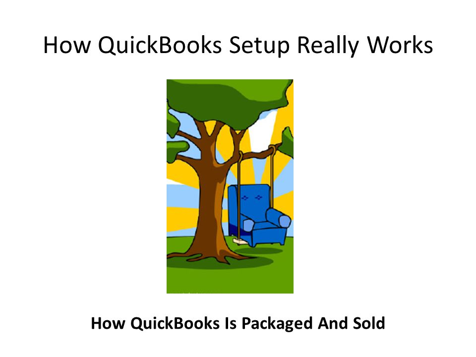 How QuickBooks Setup Really Works How QuickBooks Is Packaged And Sold