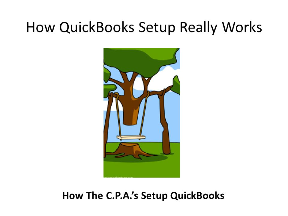 How QuickBooks Setup Really Works How The C.P.A.'s Setup QuickBooks