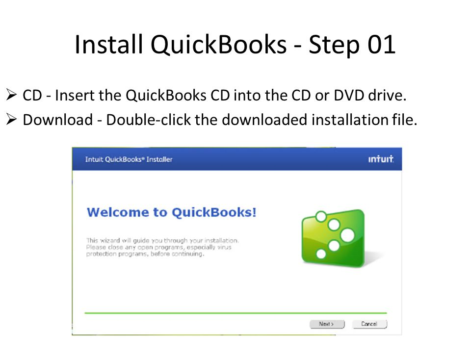 Install QuickBooks - Step 02  Read the Software License Agreement.