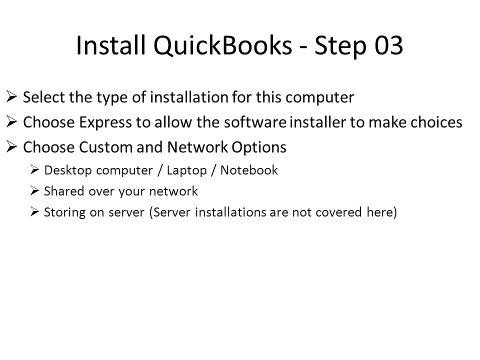 Install QuickBooks - Step 04  Enter License and Product numbers and click next