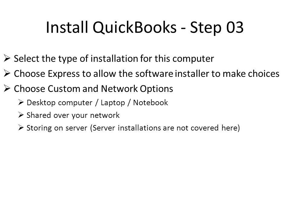 Setup QuickBooks - Step 06 Setup Admin Password