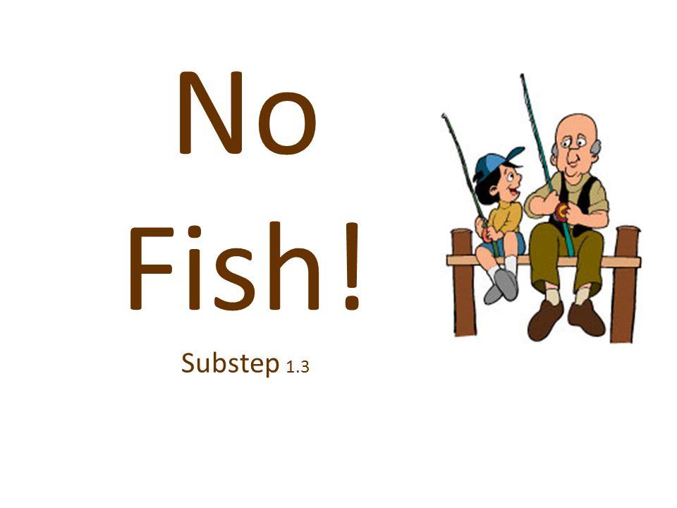 No Fish! Substep 1.3